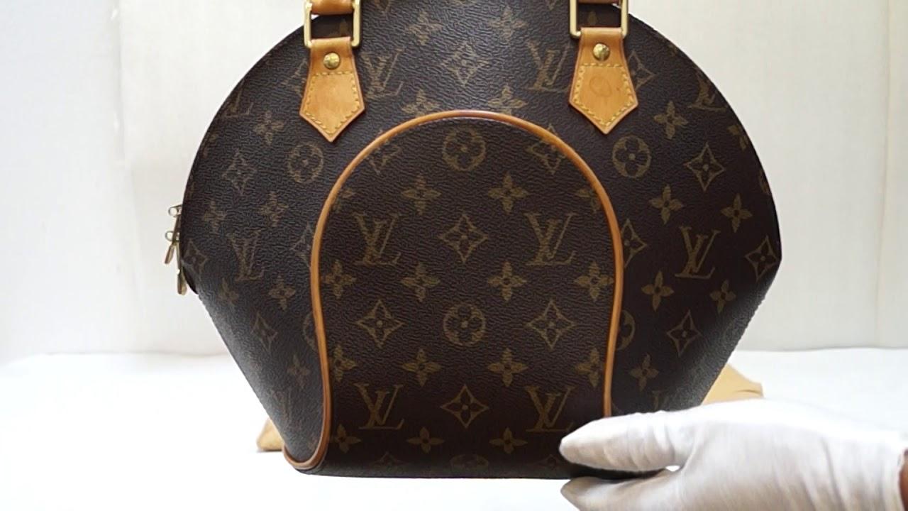 Louis Vuitton Ellipse Pm Monogram Canvas Satchel Handbag E4906