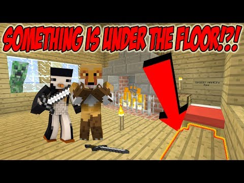 THERES SOMETHING UNDER OUR FLOORS! -|- Minecraft Arctic Survival w/ SB737 {11}