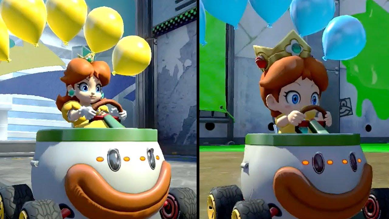 Mario Kart 8 Deluxe - Multiplayer - Balloon Battle - Daisy vs Baby Daisy