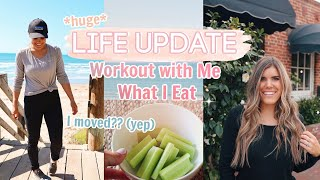 I MOVED?! DAY IN THE LIFE | Workout | Healthy Food, Fitness, & Life Update