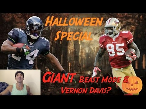 Halloween Special ! 8 FEET TALL BEAST MODE & VERNON DAVIS?