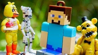 Freddy Minecraft Oyunları!🗻 Animatronikler'in GERÇEK mağaradaki evi YOK et!💣🔪 #MağaraMacerasıOyunu