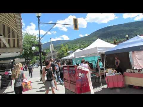 Nelson BC Farmer's Market on Baker Street - June 12, 2013