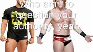 "Heath Slater and Justin Gabriel old theme song ""Black or White"" lyrics"