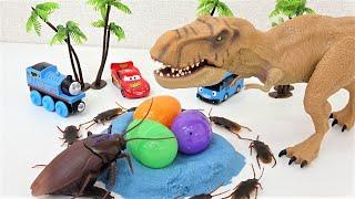 Dinosaur vs Insects Toy Monster! Tayo, Thomas, Cars Funny Story