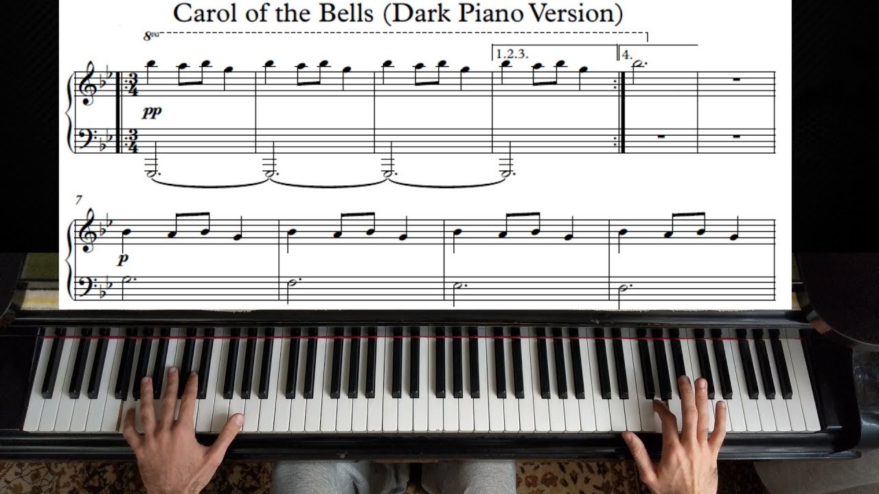 Download Carol of the Bells - Piano Tutorial | With Sheet Music