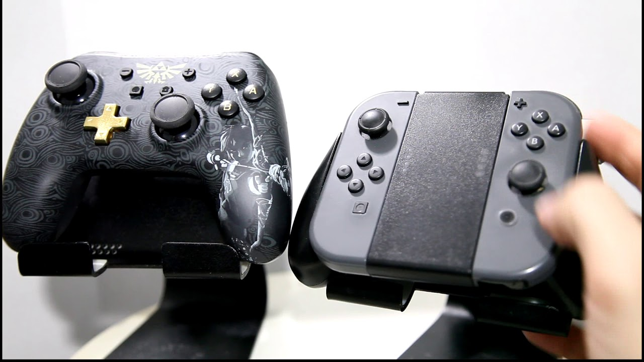 Review: Nintendo Switch PowerA Wired Pro Controller Vs  Joycons with Grip -  Zelda themed