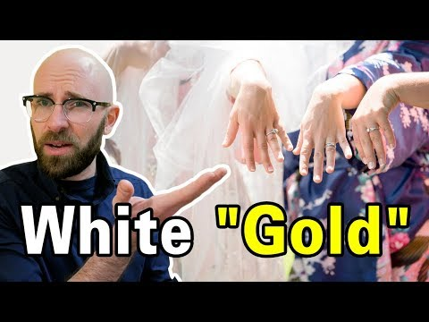 How Do They Make White Gold White Given That It's An Element?