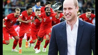Prince William leads celebrations for England BEAT Colombia at World Cup 2018