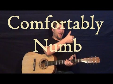 Comfortably Numb (Pink Floyd) Guitar Lesson Easy Strum Chord How to ...