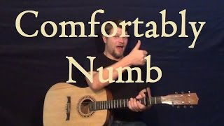 Comfortably Numb Pink Floyd Guitar Lesson Easy Strum Chord