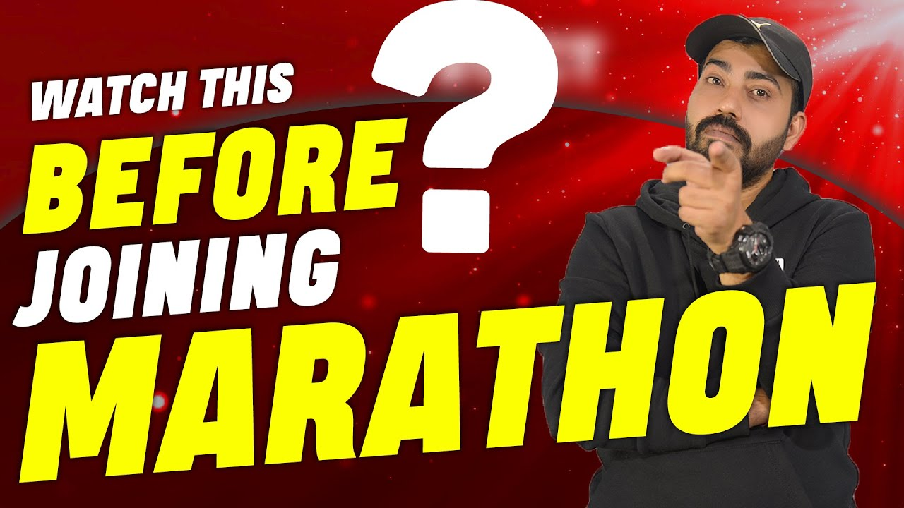 Want To Join Marathon II Must Watch This II Commerce Baba