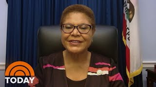 Rep. Karen Bass: 'if The Science Shows It's Needed, The Mayor Will Have Us Close Down' | Today