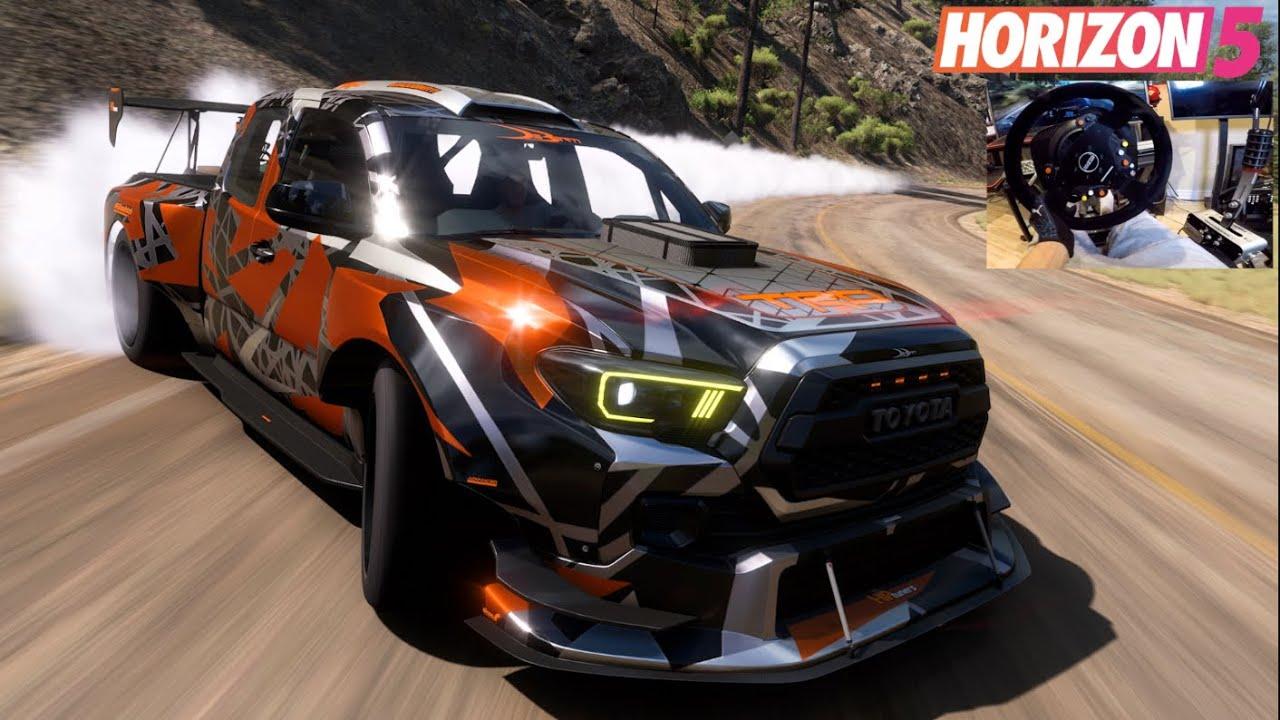 Download Forza Horizon 5 w/Wheel - 1200hp Toyota Tacoma TRD Drift Truck!!