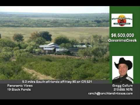 Geronimo Creek Ranch -- 1342 Acres -- Hondo Texas