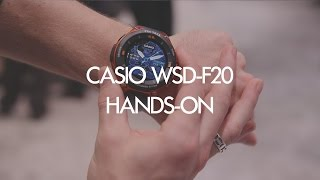 Hands-on: Casio WSD-F20 Rugged Android Wear Smartwatch