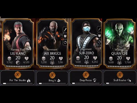 From revenant jax and sub zero flaming fists liu kang and quan chi