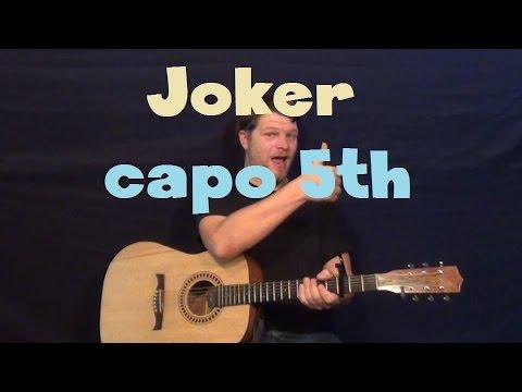 Joker (Steve Miller Band) Capo 5th Easy Guitar Lesson How to Play Tutorial