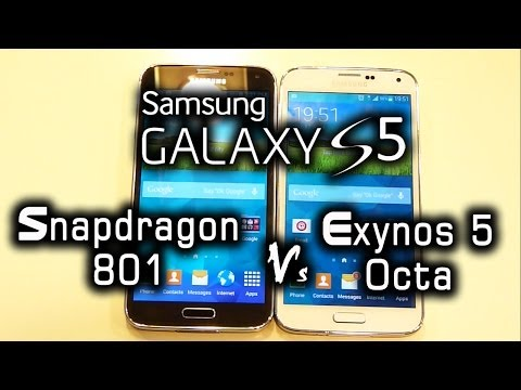 GALAXY S5 Snapdragon 801 (US) vs Exynos 5 Octa (Global) version