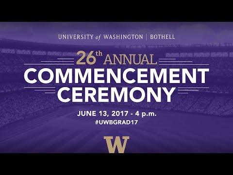 2017 UW Bothell Commencement