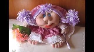 Веселые куклы из капроновых колготок. Поделки из чулков