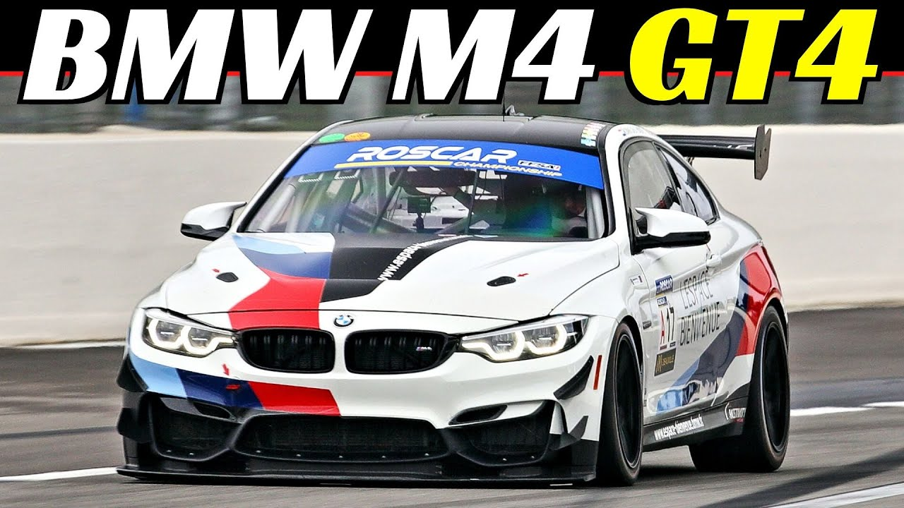 BMW M4 GT4 Racing Car at Paul Ricard Circuit - 3.0-Litre Six-cylinder, TwinPower Turbo Engine