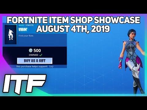 Fortnite Item Shop *NEW* VIBIN' EMOTE + EMOTICAL WRAP! [August 4th, 2019] (Fortnite Battle Royale)
