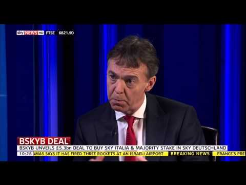 Jeremy Darroch on BSkyB's proposed acquisition of SKY Italia and SKY Deutschland