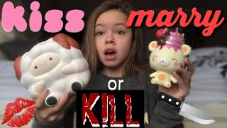 Kiss Marry or Kill with Squishies! || christine marie