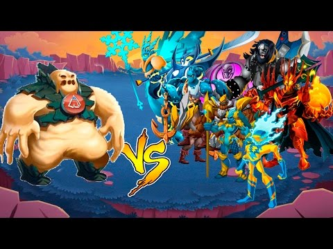 "Monster Legends - ""Darude"" VS ""LEGENDARY"" STADIUM + COMBAT Isla Laberinto Superheroes"