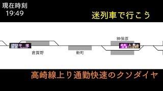 【迷列車で行こう】高崎線上り通勤快速のクソダイヤ