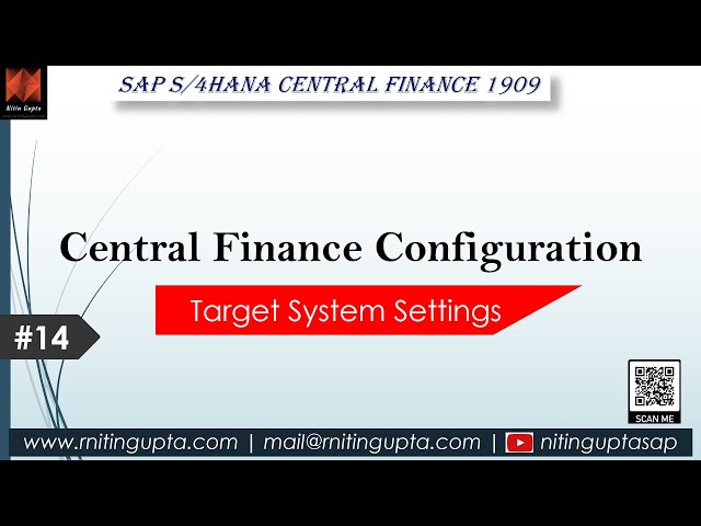 SAP Central Finance - Configuration Video 14