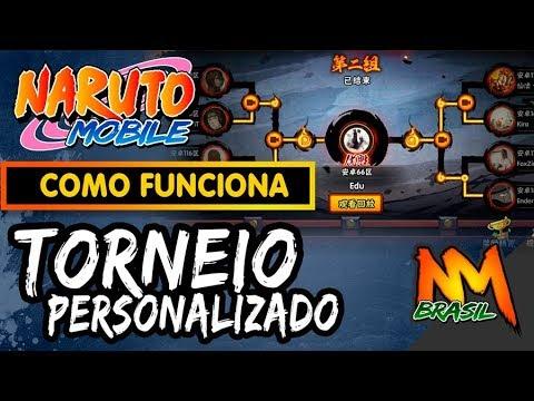Como funciona os Torneios Personalizados do Naruto Mobile