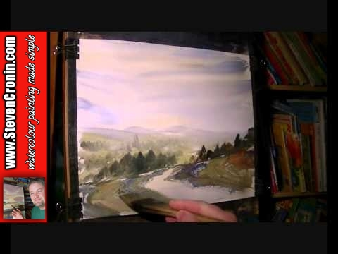 Walkham Valley, Dartmoor Watercolour Landscape Painting Demonstration