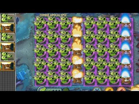 Plants vs Zombies 2 Hack - Tripitidora y Plantorcha vs Plaga de Zombistein