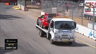 TIM SLADE NOT HAPPY - GETTING TAKEN BACK TO THE PITS BY @V8SCTowtruck