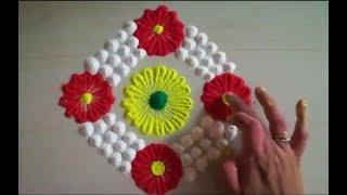 Super easy and small rangoli design