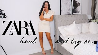 ZARA HAUL AND TRY-ON! || WARDROBE BASICS