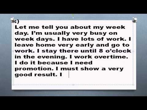 Топик My Week Day Мой будний день  на английском устная тема