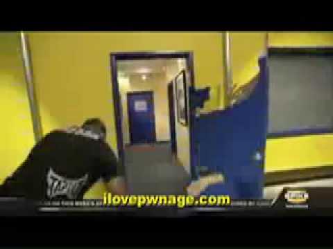 Ufc Fighter Vs Blue Door Rampage Jackson Destroys A Door Youtube