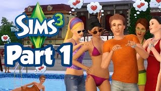 Sims 3 Part 1 - GETTING FLIRTY (Gameplay Walkthrough)