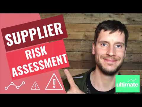 Supplier risk assessment - assess your suppliers