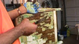 Hoosier Cabinet Project #12--Now Strip It, Strip It Good