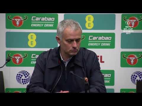 Jose Mourinho's EFL Cup Final Post Match Press Conference Manchester United 3 2 Southampto