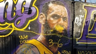 LeBron James Gets His SICKEST Mural Yet!