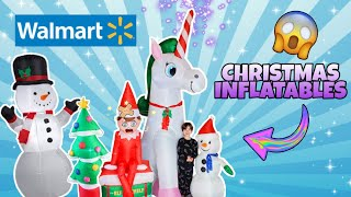Did We Break New Christmas Inflatable Elf On A Shelf? Giant Unicorn Blow up Walmart Decorations 2019