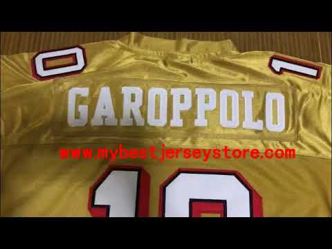 0a53cb26828 49ers gold stitched jersey - YouTube