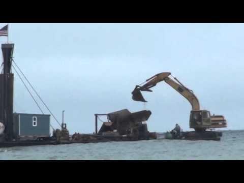 Excavator Dredge, Offshore Nome Alaska