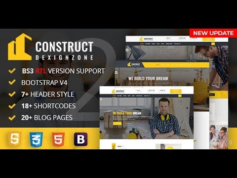 ConstructZilla : Construction, Renovation & Building HTML Template With RTL Ready