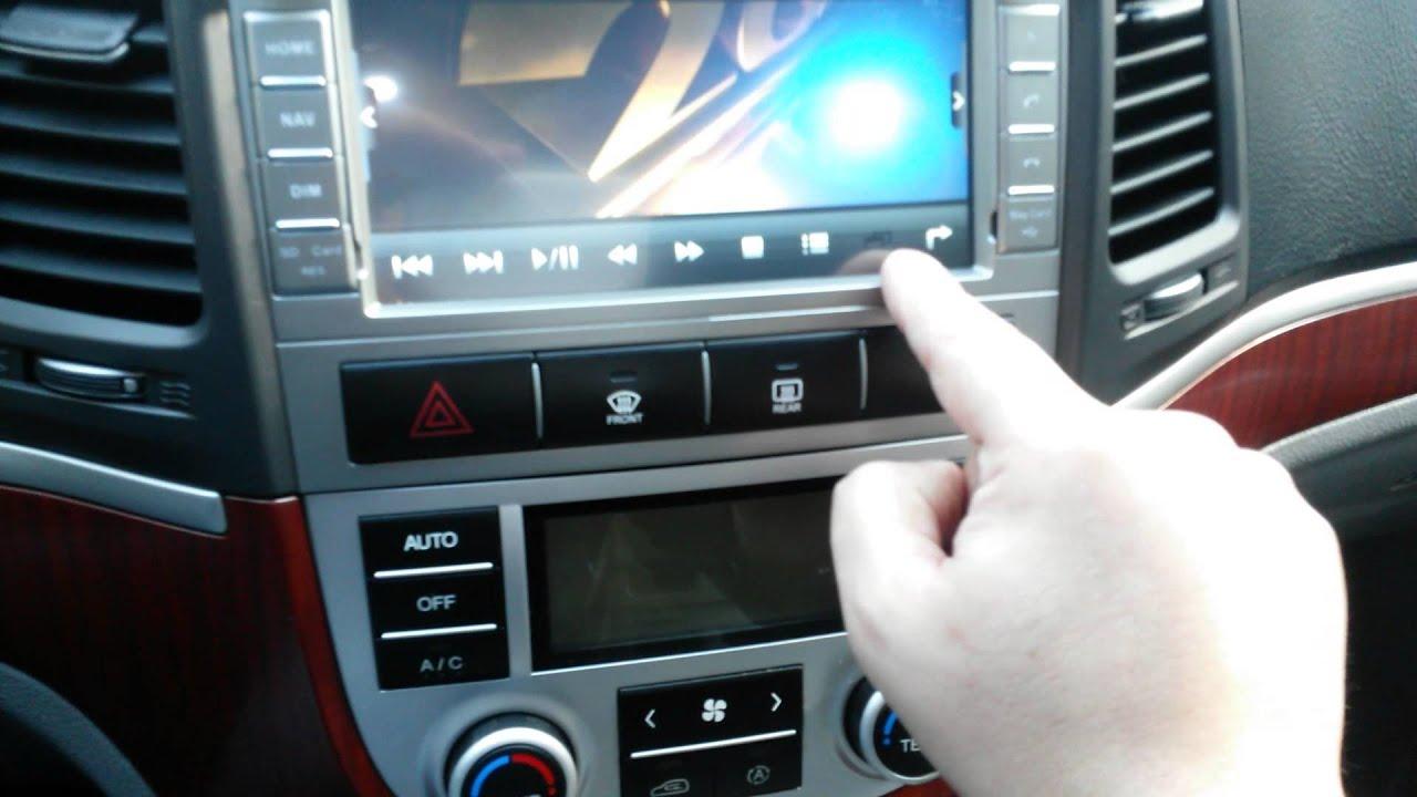2 Din Hyundai Santa Fe Dgd 7211 Youtube